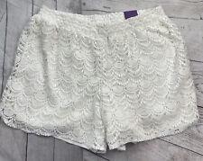 Lane Bryant Womens Crochet Lace Pull-On Shorts Size 18/20 White NEW