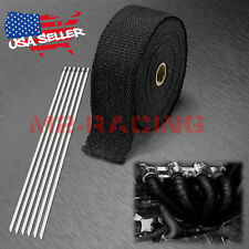 "Black Exhaust Pipe Insulation Thermal Heat Wrap 2"" x 50' Motorcycle Header"
