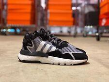 Adidas Nite Jogger Low Mens Casual Shoes Black/White/Silver FV3854 NEW Multi Sz