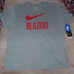 NEW NIKE NBA Portland Trail Blazers Basketball T Shirt Men 2XL XXL Dri Fit NWT