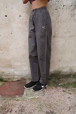 NIKE Sport Trousers Nylon Dark Grey Pants GB36/38 I44/48 S SMALL HEIGHT173 SuPER
