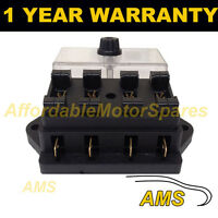 NEW 4 WAY UNIVERSAL STANDARD 12V 12 VOLT ATC BLADE FUSE BOX / COVER MOTORCYCLE