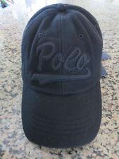 Polo RALPH LAUREN Baseball Cap Sports Wool Blend Black Cap Hat