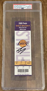 Shaquille O'Neal Signed Lakers Kobe 2000 NBA Finals TICKET STUB PSA/DNA AUTH 10