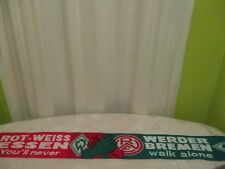 """Werder Bremen/Rot Weiss Essen Fan Freundschaft Schal """"You´ll never walk alone"""""""