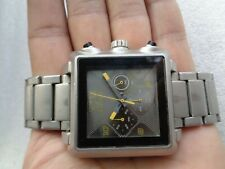 BIG FACE FASTRACK SQUARE ST STEEL MEN'S CHRONOGRAPH WRISTWATCH