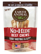 "Earth Animal NO HIDE BEEF DOG CHEW 7"" 2 Pak Rawhide Alternative MADE IN USA"