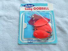 LES DAVIS BABY COWBELL - NIP - LUHR-JENSEN - FLEX-I-TROLL - FIRE