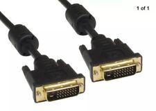Nikkai DA DVI-D 24+1 Pin Cavo Dual Link DVI Maschio a Maschio Gold 1.5m NUOVO SIGILLATO