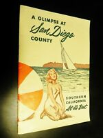 San Diego County California CA 1953 Glimpse 24 pg Booklet Fact Information Stats