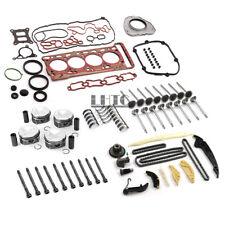 Engine Rebuild Overhaul Pistons Valves Seals Kit For VW Audi 2.0TFSI CNC CHH CNT