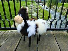 Sheepskin Fur Cow Ottoman| Nursery Room Decor| Natural Sheepskin Hand Carved Foo