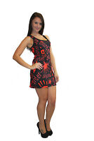 NEW BLACK RED BLOOD SPLATTER MURDER HAND PRINT LONG VEST TANK TOP GOTH PUNK EMO