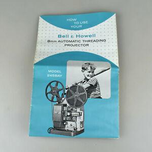 VTG Bell & Howell 8mm Film Movie Projector Instruction Manual Model 245 BAY PAY