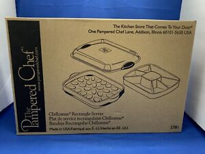 PAMPERED CHEF CHILLZANNE RECTANGLE SERVER 2781 CHILLED SERVING TRAY DEVILED EGGS