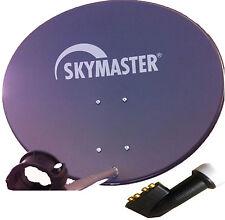 60cm SAT Antenne Skymaster Satellitenschüssel Digital +4-Fach LNB Spiegel HD 3d
