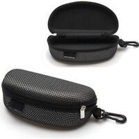 Portable Zipper Eye Glasses Sunglasses Clam Shell Hard Case Protector Box Hot