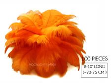 """100 Pieces - 8-10"""" Orange Wholesale Ostrich Wing Feathers Halloween Mask Costume"""