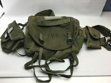 U.S. Army Combat Field Pack & Suspenders -Canvas- 2 Front Packs- 1960's - 1970's