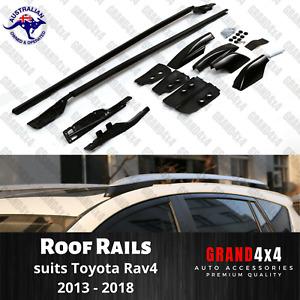 2 x Black Roof Rails to Toyota Rav-4 2013 - 2018 Rav4 Aluminium Roof Rack Bar