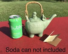 Ceramic Teapot Handmade 'Buddha and an Elephant' Novica Bali Collection