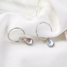 55f5605cd691d Moonstone Hoop Sterling Silver Fine Earrings for sale | eBay