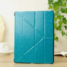 Silk texture PU leather smart cover for IPAD air DARK SKYBLUE