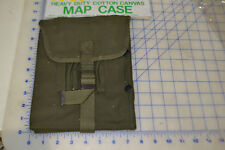 map case militray style OD green cotton canvas heavy duty w/ strap