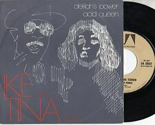IKE & TINA TURNER disco 45 MADE in ITALY + PS Delilah's power + Acid Queen 1975