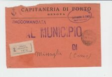 14095-RSI, Capitaneria del porto di Genova, raccomandata in franchigia, 1944