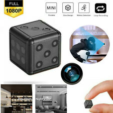 1080P HD Mini Hidden Camera Dice Microphone Hide Keychain Cam Security SQ16 D