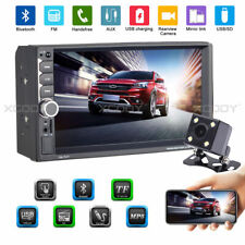 "2 DIN 7"" HD Car Stereo Radio MP5 Player 2 USB FM TF AUX IN BT w/ Reverse Camera"