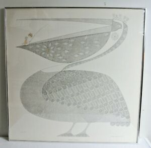 Ikki Matsumoto Series In Gray Number Two 30 x 30 Pelican Signed Print 1973 Frame