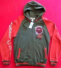 Ed Hardy rare $125 Hooded Sweatshirt Jacket Hoodie Beautiful But Dangerous sz L