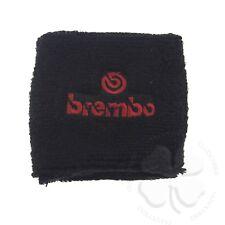 Large Black/Red Brembo Brake Clutch Reservoir Sock Cover Motorcycle Bike Sweat