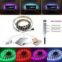 5V RGB 5050 LED Strip Light USB TV PC + 3Key Controller Modern Colour Changing