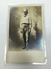 Vintage Real Photo RPPC Postcard Mailman Postman In Uniform York Pennsylvania
