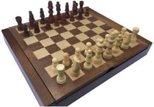 CLASSIC CHESS BOARD AND MEN WITH FOLDING COMPARTMENT TO STORE PIECES