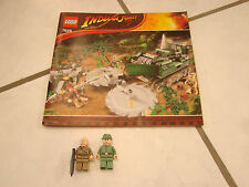 Lego 7626 Indiana Jones Jungle cutter  book and 2 minifigures only