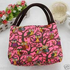 Thermal Insulated Tote Picnic Owl Lunch Cool Bag Cooler Box Handbag Pouch NEW