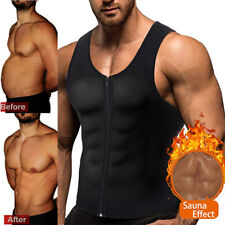 Men's Zipper Neoprene Sauna Vest Hot Sweat Body Shaper Slimming Tank Workout Us