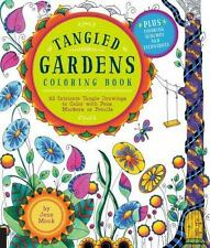 Tangled Color and Draw: Tangled Gardens Coloring Book : 52 Intricate Tangle Draw