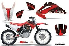 Honda CRF 150/230F Graphic Kit AMR Racing Decal Sticker Part 03-07 CARBON X RED
