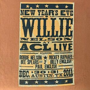 Willie Nelson New Years Eve at ACL Live 2011 T-shirt XL Texas Austin Country