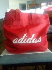 """Adidas Large Travel Gym Bag. Red. 20"""" Wide 15 """" Tall Straps 14"""""""