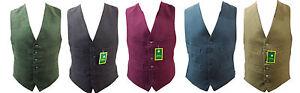 Milano Mens Moleskin cotton Waistcoat country Waistcoat Size XS TO XXXL