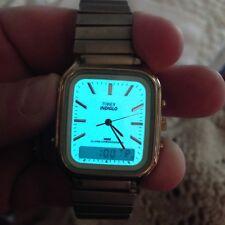 Vintage Timex Indiglo Alarm Chronograph Men's Watch- Running- New Battery- Sleek