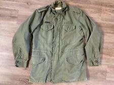 VTG 1963 Vietnam US Army Sateen OG 107 Crown Zip Mens S Field Jacket Coat M1951