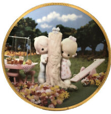 precious moments collector plates 'Thee I Love'. Plate Number: 0396C.