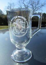 1985 USMC 210th Birthday Ball Coffee Pedestal Mug - MCRD San Diego